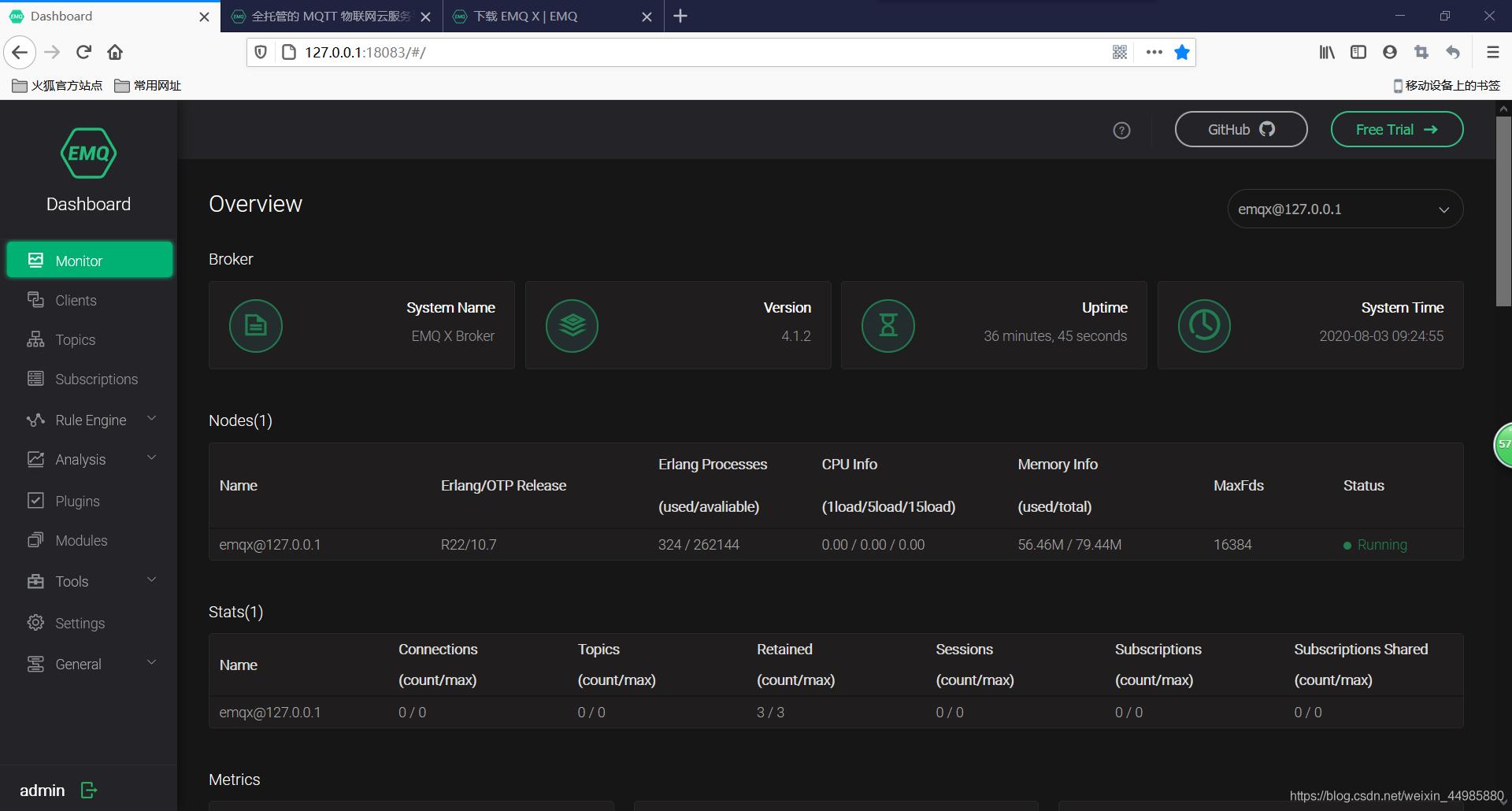 物联网云智能开发—EMQ X云服务器搭建及测试教程灰小猿的博客-.
