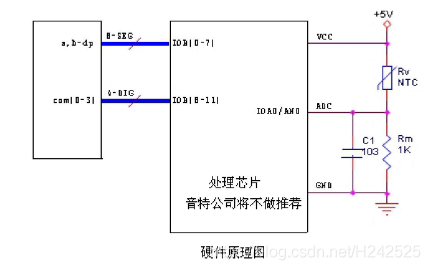 热敏电阻硬件原理图