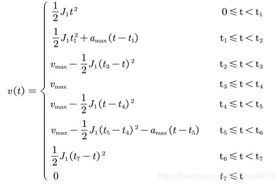七段S型曲线速度表达式
