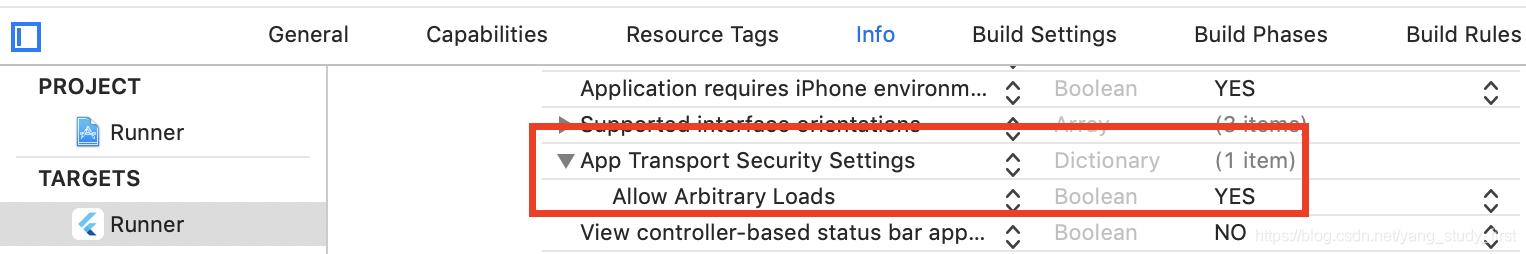 example iOS支持Http配置