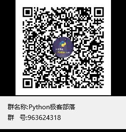 Python极客部落群聊二维码