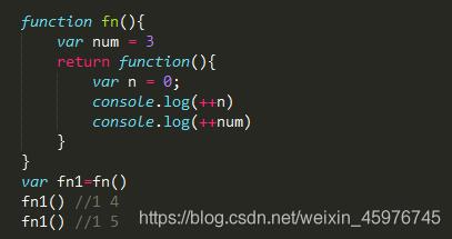 一般情况下,在函数fn执行完后,就应该连同它里面的变量一同被销毁,但是在这个例子中,匿名函数作为fn的返回值被赋值给了fn1,这时候相当于fn1=function(){var n = 0 ... },并且匿名函数内部引用着fn里的变量num,所以变量num无法被销毁,而变量n是每次被调用时新创建的,所以每次fn1执行完后它就把属于自己的变量连同自己一起销毁,于是乎最后就剩下孤零零的num,于是这里就产生了内存消耗的问题