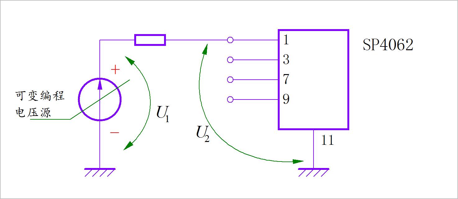 ▲ 测量输入管脚稳压实验电路