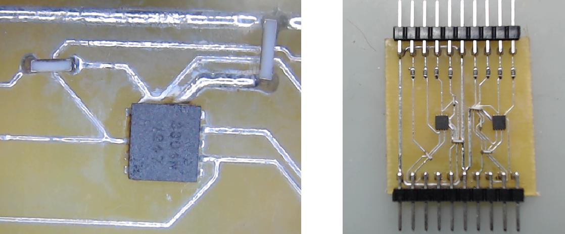 ▲ 焊接后的8通道IO保护板