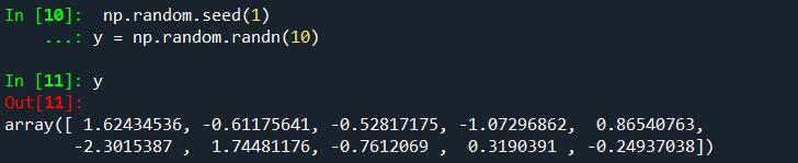 而当seed括号里的为1时,则会生成另一组新的随机数