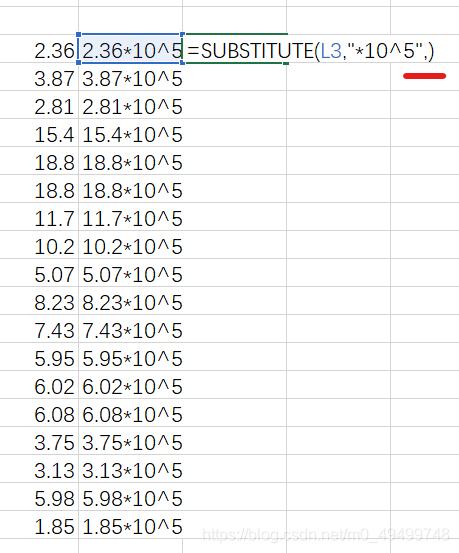 substitute函数删除内容