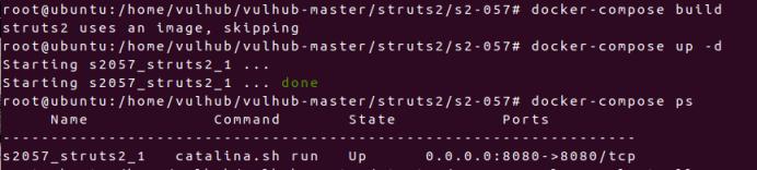 vulhub学习笔记-struts2 S2-057 Remote Code Execution Vulnerablity远程代码执行
