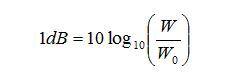 dB定义功率执笔