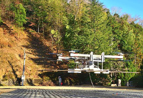 SD-01封闭学校户外飞行测试