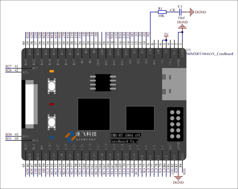 ▲ 图3.1 系统核心板