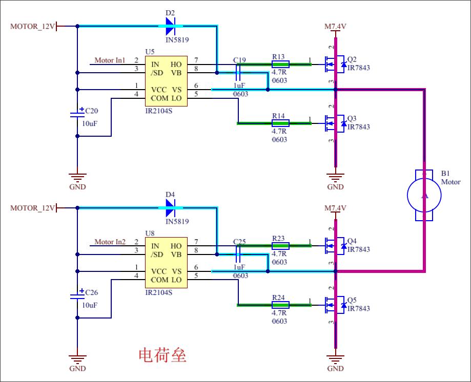 ▲ 图3.3 全桥驱动原理图