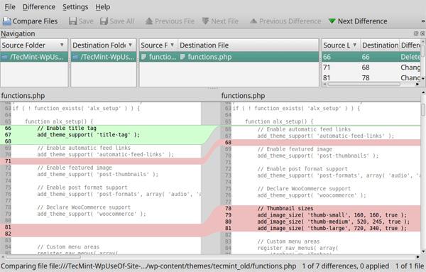 9款最佳的Linux文件比较工具插图(3)