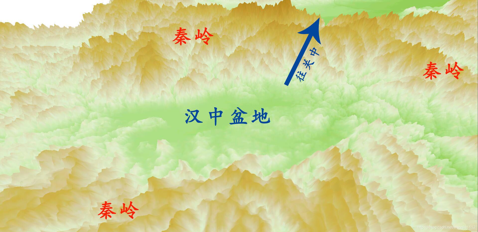 秦岭峪道示意图