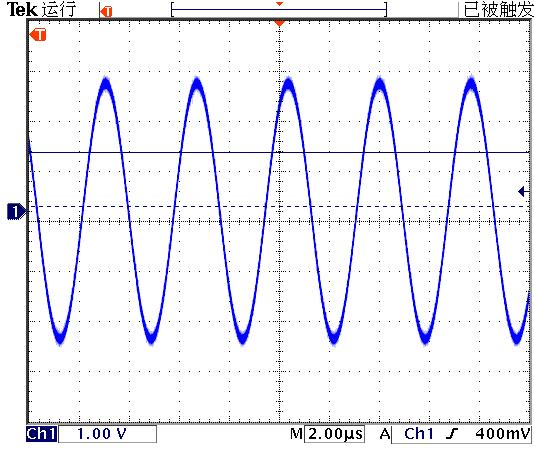 ▲ 测量行程开关顶部的交变电磁场信号