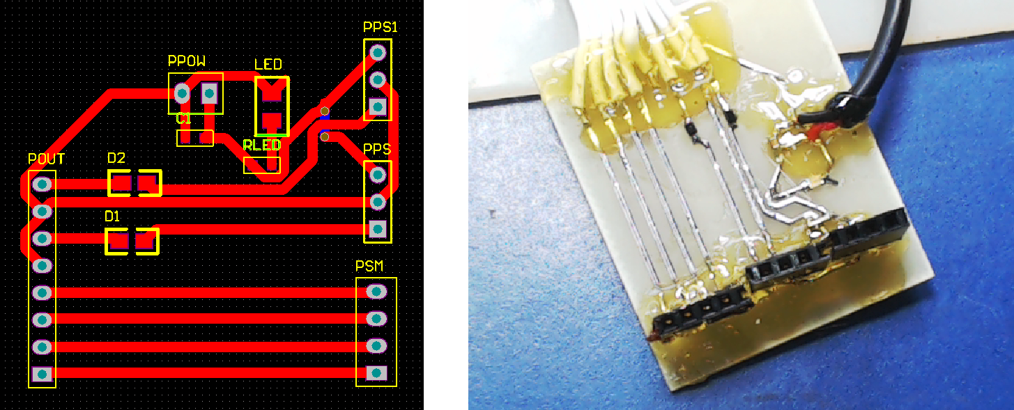 ▲ 快速制版后的实验PCB