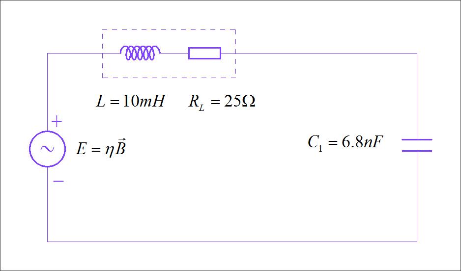 ▲ 并联有谐振电容的工字型电感等效电路