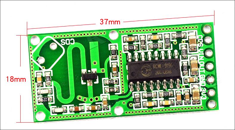 ▲ RCWL-0516模块外形