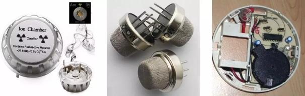 ▲ 离子式、半导体漆面式、光电式烟雾传感器