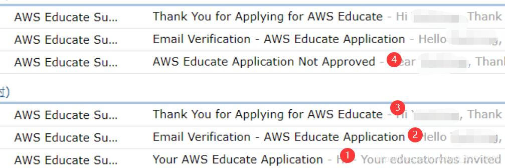 AWS Educate 学生端课程申请画面