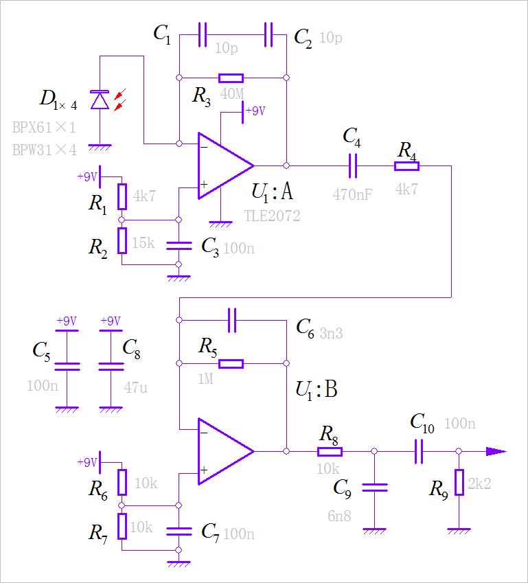 ▲ 放大电路的电路图