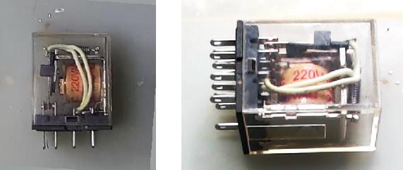 ▲ 交流220VAC驱动的继电器