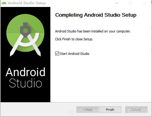 点击finish 启动 Android studio