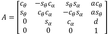 DH参数矩阵的具体计算公式