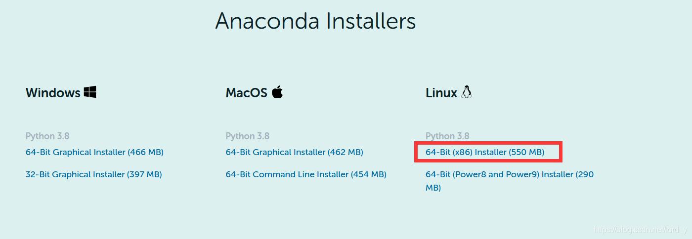 anaconda linux版本
