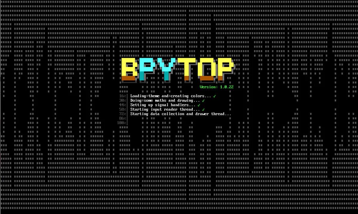 Centos8文本模式终端中启动Bpytop