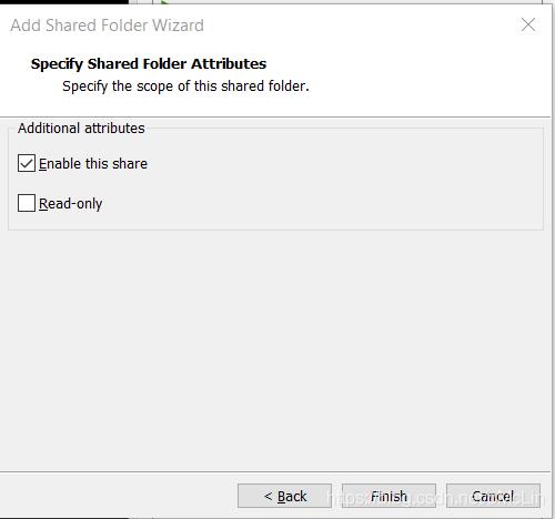 在VMWare中共享文件夹属性