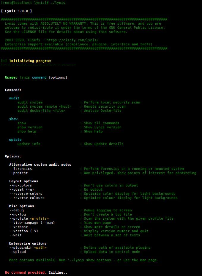 Lynis – 用于Linux服务器的自动安全审计工具插图(2)