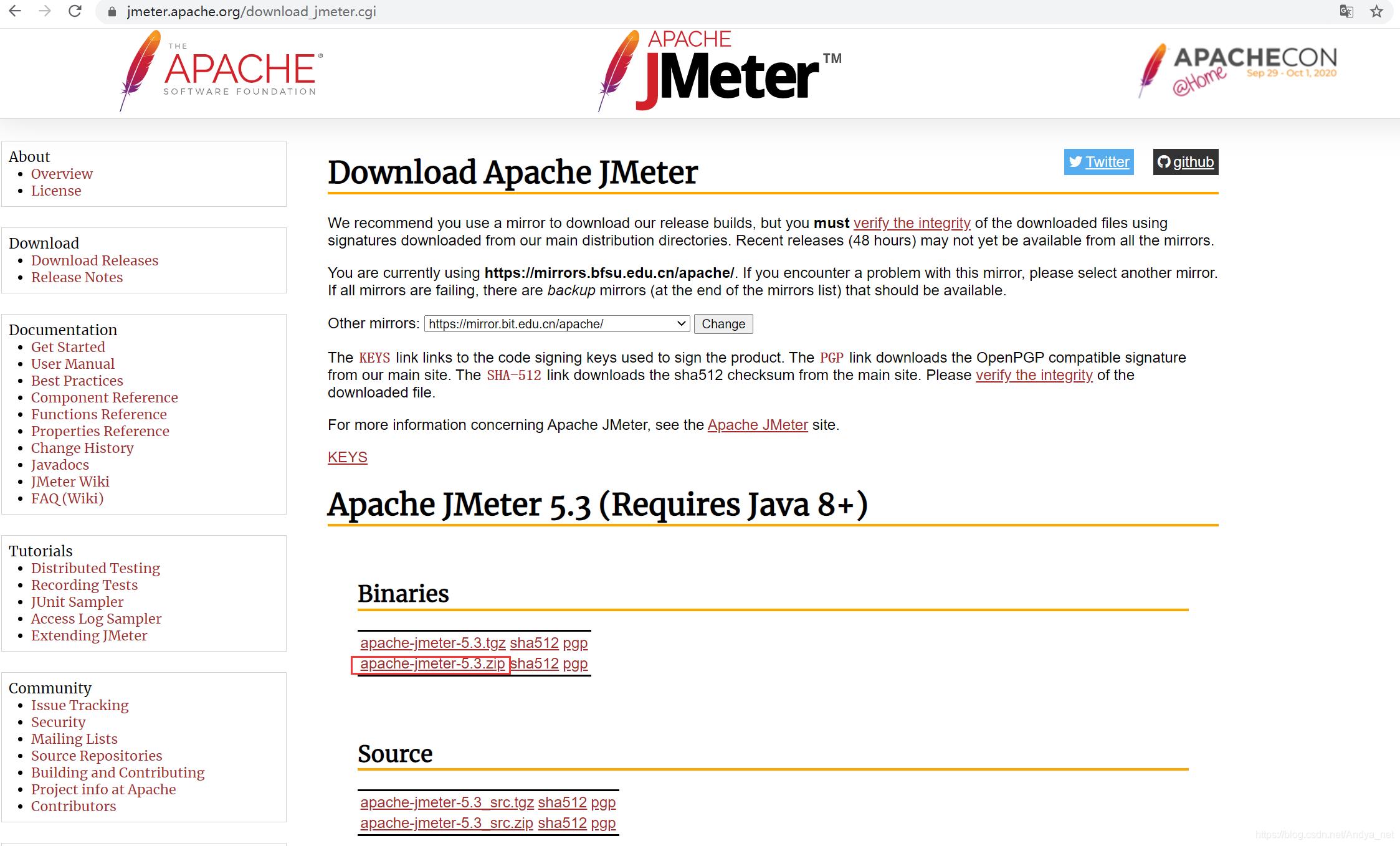 下载最新的JMeter