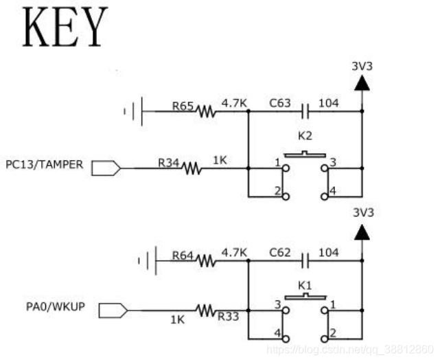 秉火STM32F429挑战者开发板硬件消抖原理图