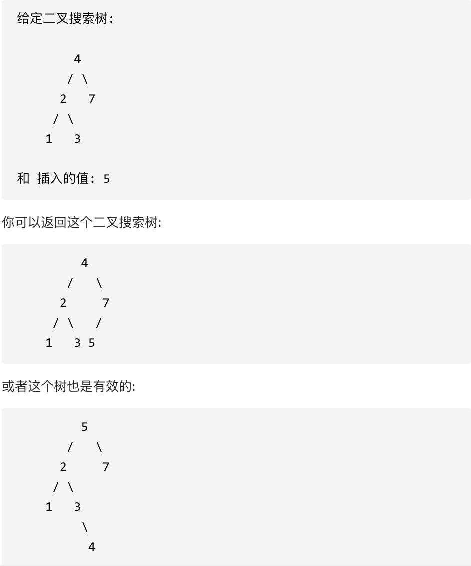 701.二叉搜索树中的插入操作