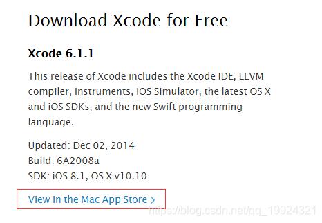 xcode下载