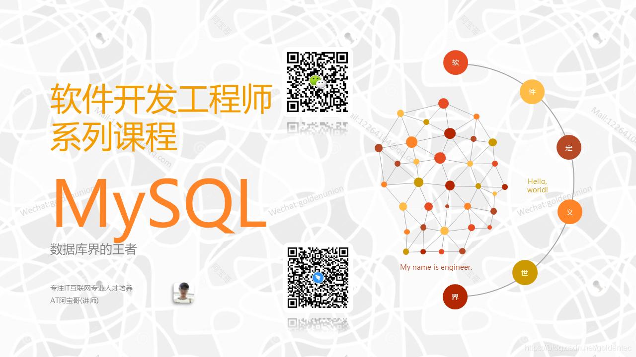 课程封面-MySQL-AT阿宝哥