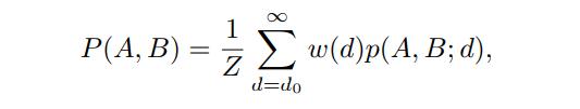 像素A和像素B的亲和量