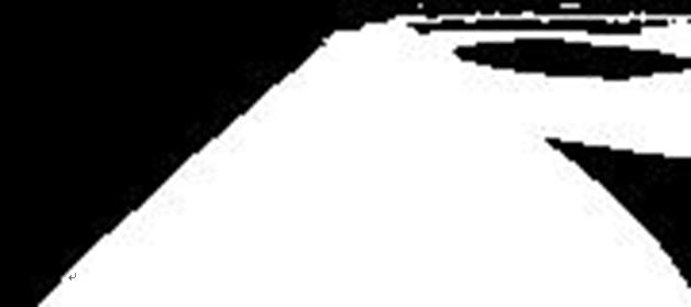 ▲ 图 C-2 环岛二值化图