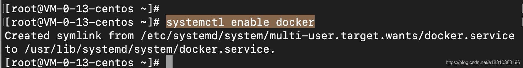 设置开启服务自启动Docker