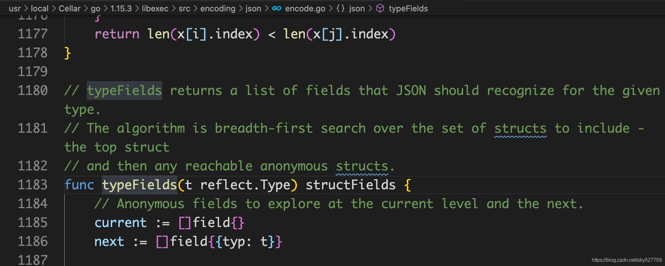 源码地址,在go源码对src/encoding/json/encode.go/