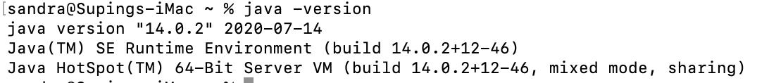 Java版本查看