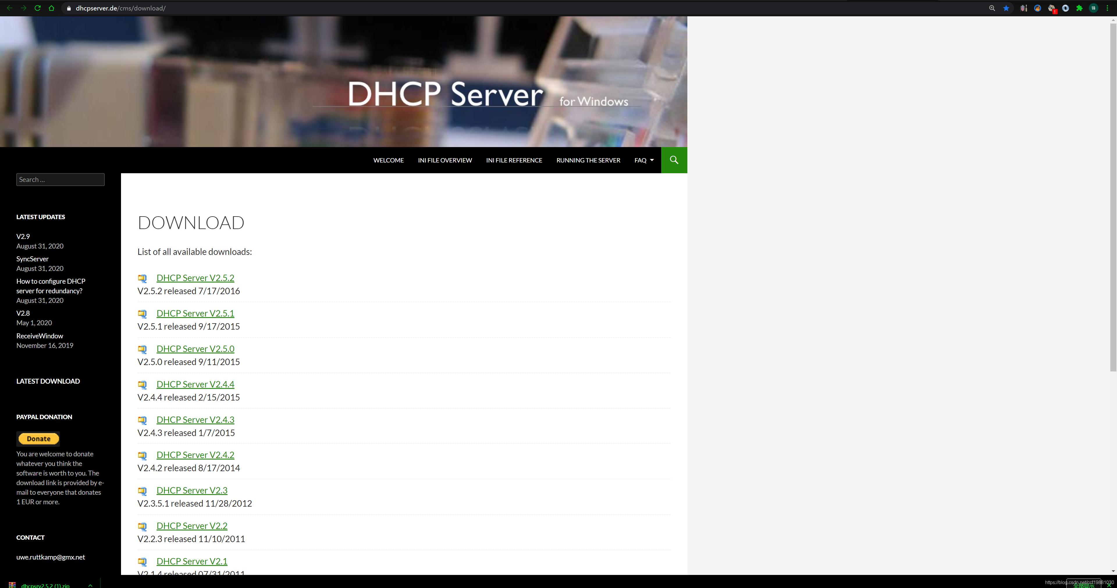 DHCP Server for Windows下载