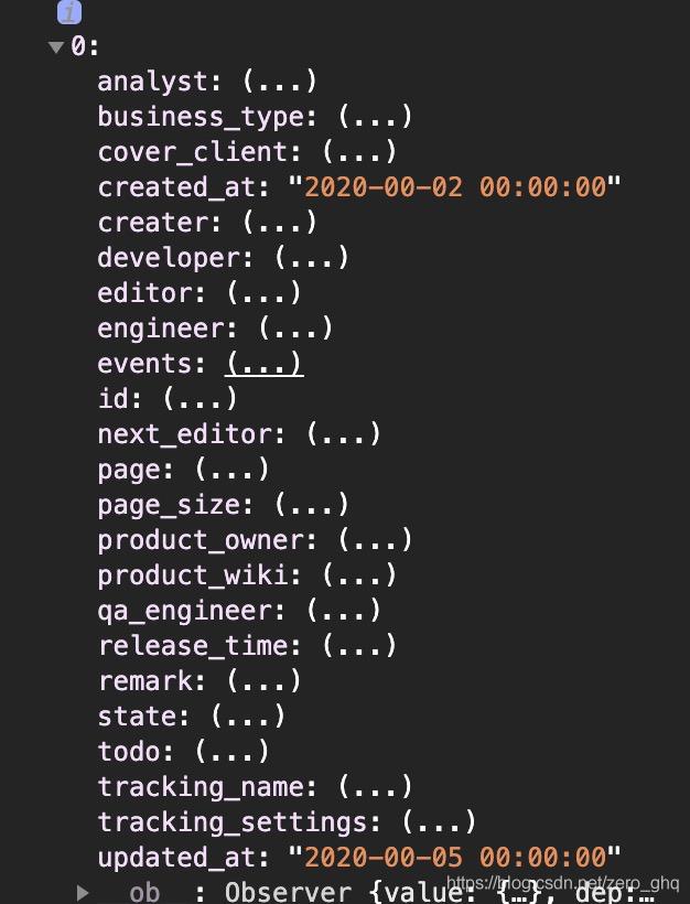 前端获取后台数据时间格式