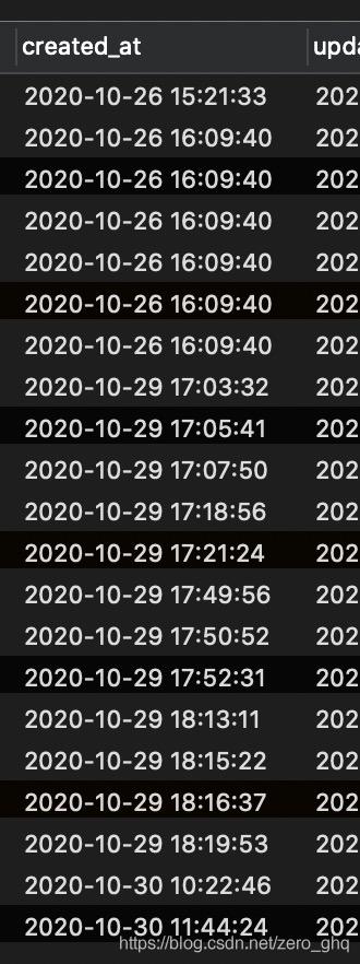 数据库存储的时间格式