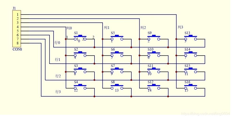 3*4矩阵键盘扫描原理_3*4矩阵键盘扫描原理