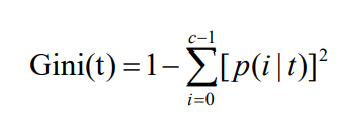 某结点Gini值的计算方式