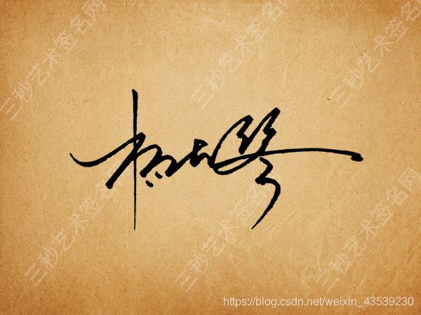 现代签名设计杨大琴图片