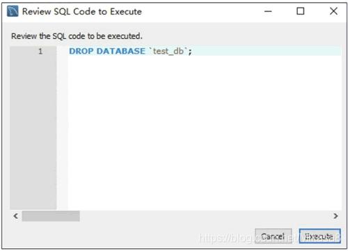 预览删除数据库的SQL脚本