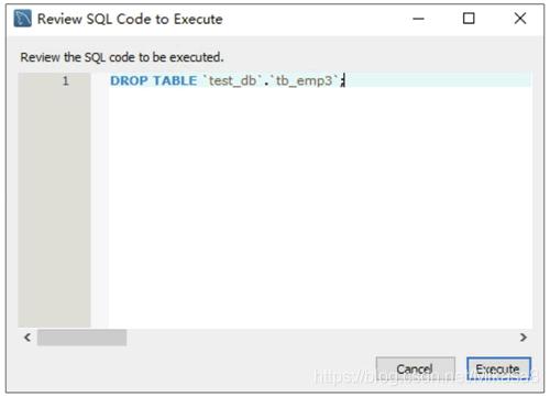 预览删除数据表的SQL脚本