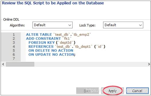 预览创建外键的SQL脚本